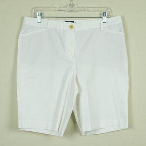 Talbots Petites White Chino Shorts
